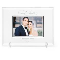 classic wedding glass frame