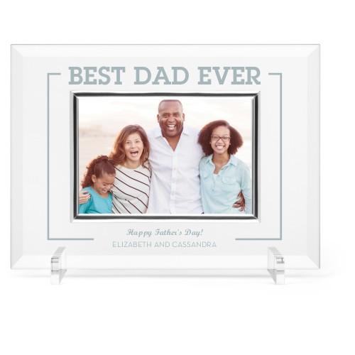 Best Dad Ever Glass Frame