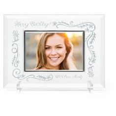 floral celebration glass frame
