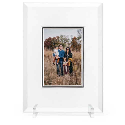 Make Your Own Statement Glass Frame, 8x11 Engraved Glass Frame, - Photo insert, White