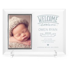 welcome little one glass frame