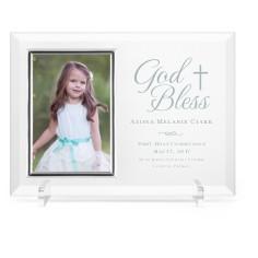 god bless glass frame
