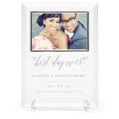 best day ever glass frame