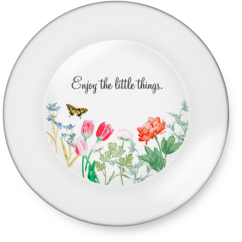 Spring Floral Glass Plate