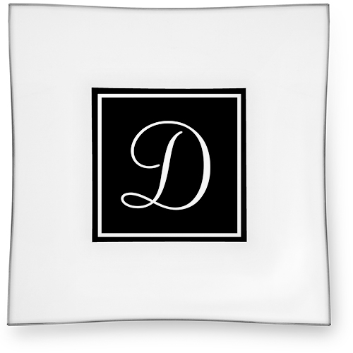 Simple Frame Monogram Catch All Tray