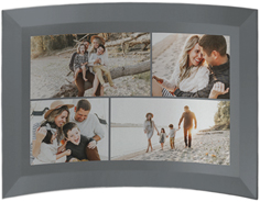gallery of four collage curved glass print