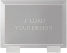 upload your own design flat glass print