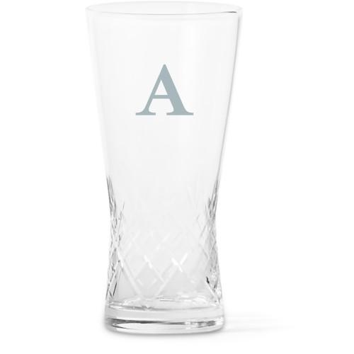 Classic Monogram Glass Vase, Glass Vase (Trumpet), Glass Vase Double Sided, White