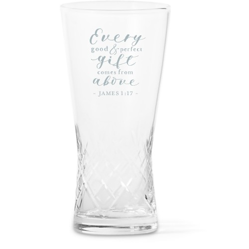 Perfect Gift Glass Vase, Glass Vase (Trumpet), Glass Vase Single Side, White