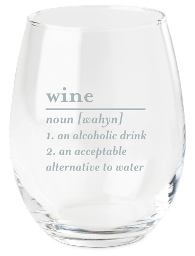 Word Definition Wine Glass, White