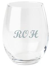 trad monogram wine glass