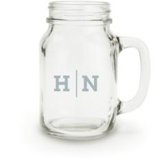 monogram line mason jar