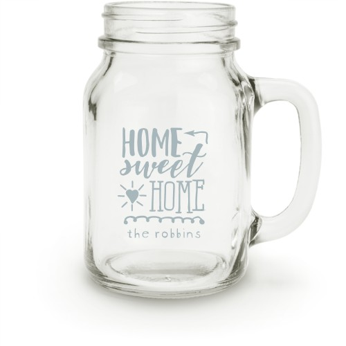 Home Sweet Home Mason Jar, White
