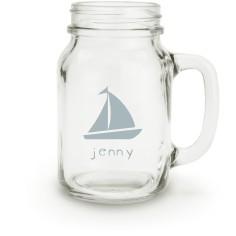 sailing boat mason jar