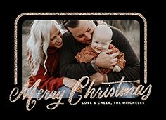 sparkling merry frame christmas card