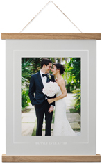 simple outline border hanging canvas print