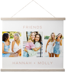kids gallery of three hanging canvas print