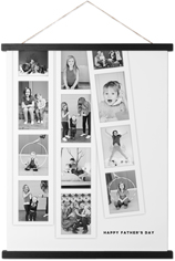 modern filmstrip collage hanging canvas print