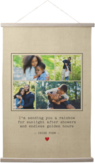 simple quote of love hanging canvas print