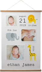 safari baby hanging canvas print