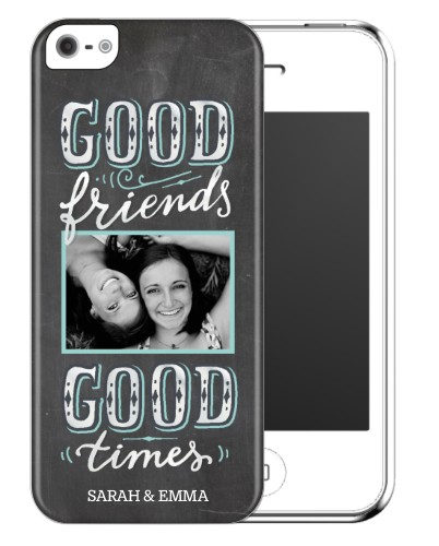 Chalkboard Friends iPhone Case, Slim case, Glossy, iPhone 5/5S, Grey