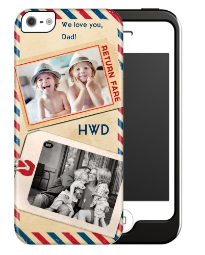 Happy Travels iPhone Case, Silicone liner case, Matte, iPhone 5/5S, Beige