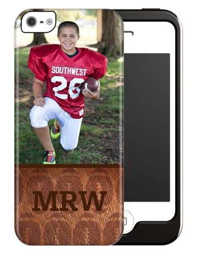 Football Monogram iPhone Case, Silicone liner case, Matte, iPhone 5/5S, Brown
