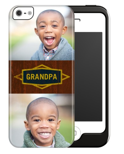 Classic Grandpa iPhone Case, Silicone liner case, Glossy, iPhone 5/5S, Brown