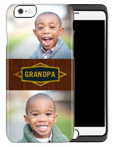 Classic Grandpa iPhone Case, Silicone liner case, Glossy, iPhone 6, Brown