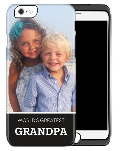 World's Greatest Grandpa iPhone Case, Silicone liner case, Matte, iPhone 6, Black