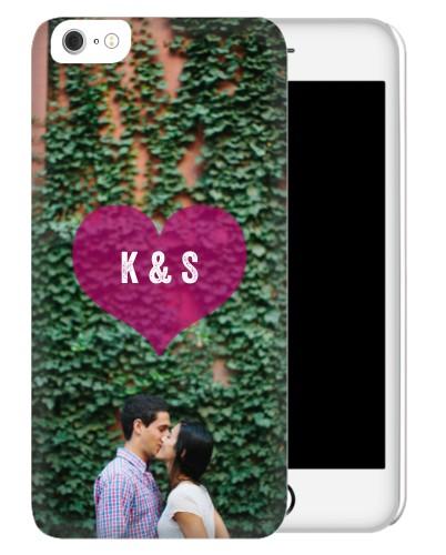 Purple Heart iPhone Case, Slim case, Matte, iPhone 6 Plus, Purple