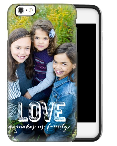 Love Makes Family iPhone Case, Silicone liner case, Matte, iPhone 6 Plus, White