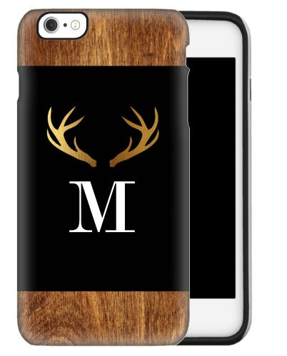 Antler iPhone Case, Silicone liner case, Glossy, iPhone 6 Plus, Brown