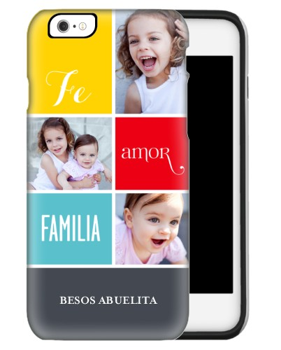 Fe Amor Familia iPhone Case, Silicone liner case, Matte, iPhone 6s, Grey