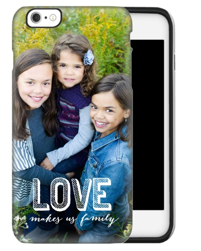 Love Makes Family iPhone Case, Silicone liner case, Matte, iPhone 6s Plus, DynamicColor