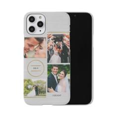 circle monogram collage iphone case