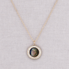 gold lillian necklace