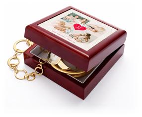 monogram heart keepsake box