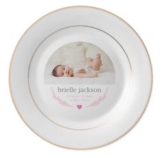 classic welcome baby keepsake plate