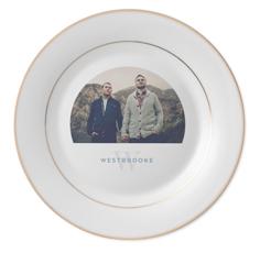 simple initial keepsake plate
