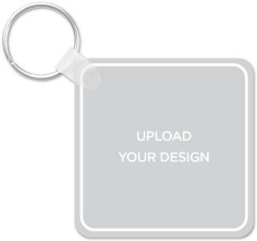 upload your own design square key ring