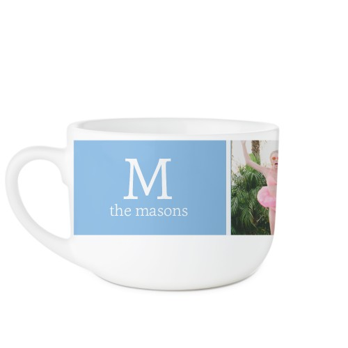 Gallery Monogram Latte Mug, White,  , 25oz, Multicolor