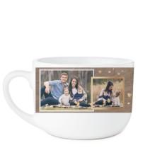 family overlap collage latte mug