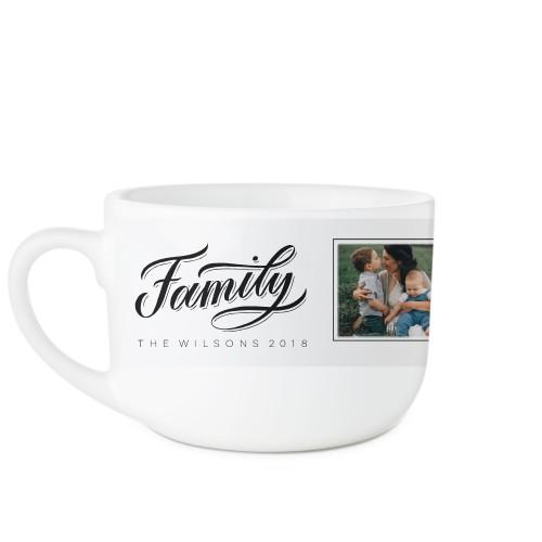 Family Script Latte Mug