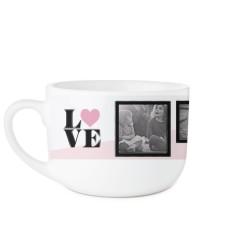 love colorblock latte mug