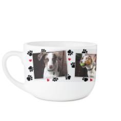 paw prints latte mug