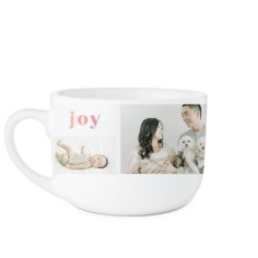 rainbow joy love family latte mug