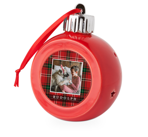 Best in Show Plaid Light Up Ornament