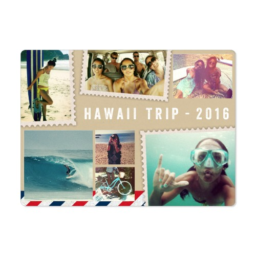 Vacation Postcard Magnet, 4x5.5, Beige