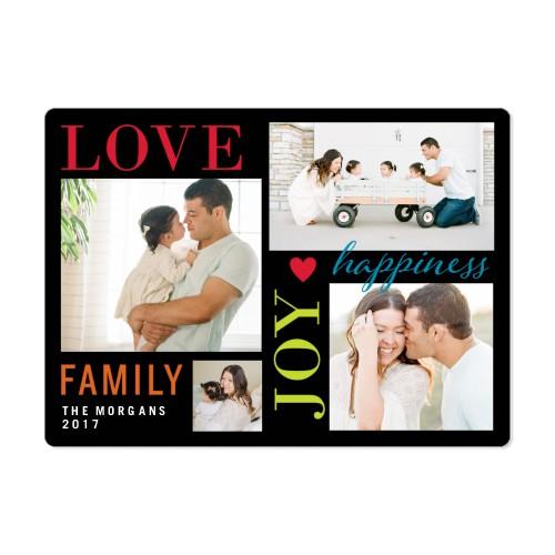 Colorful Love Joy Family Magnet